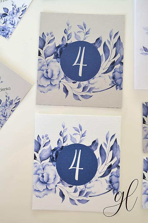 Svadobné oznámenie pečať kvety - set (číslo stola)