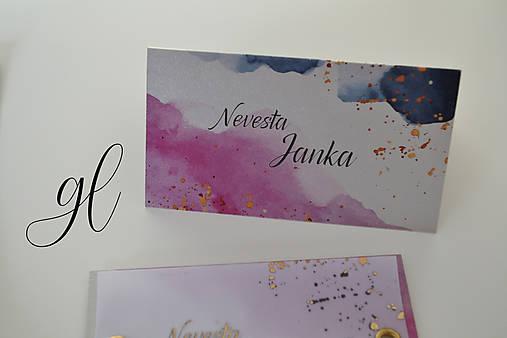 Svadobné oznámenie transparent akvarel (Menovka)