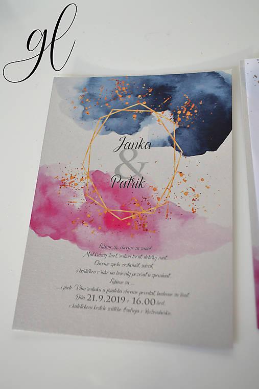 Svadobné oznámenie transparent akvarel (Oznámenie)