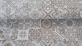 Textil - Hnedo-režná zmesová metráž - 11582544_