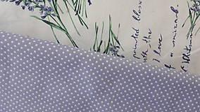 Textil - Biela bodka na fialovej š.140cm - 11582564_
