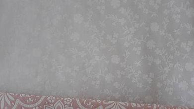 Textil - Jemné kvietky na smotanovej - 11582580_