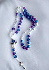 Iné šperky - Ruženec s nápisom #2 z lásky - 11581233_