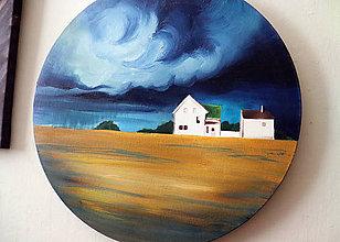 Obrazy - Storm diptych - 11582334_