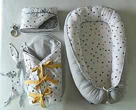 Textil - Set pre bábätko - Srdiečka - 11584939_