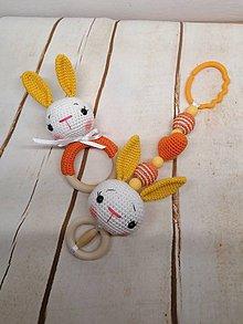 Hračky - Set na kočík zajko - 11586652_