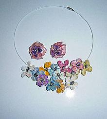 Sady šperkov - lel tanečnice- kvetinový náhrdelník a náušnice2 - 11584518_