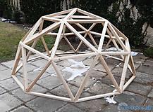 Nezaradené - Konštrukcia drevenej KUPOLY - GEODÓMU v2 - 1/2, plocha 6,61m2, priemer 3m - 11584331_