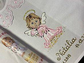 Detské oblečenie - Maľovaná košieľka- anjelik s ovečkou - 11586301_