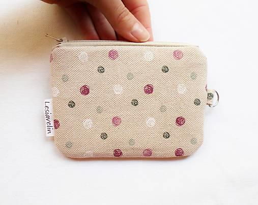 Peňaženka/dokladovka - Guličky na režnej