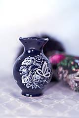 Dekorácie - Kobaltová vázička - 11585546_