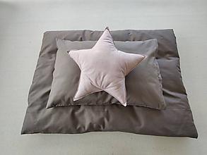 Textil - Detské obliečky 100 x 140 / 40 x 60 cm Elephant grey šedou hnedé - 11584572_