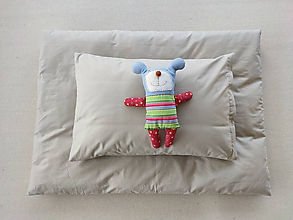 Textil - Detské obliečky 100 x 140 / 40 x 60 cm SAND piesková - 11584598_