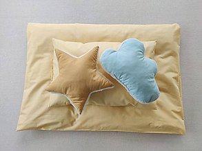 Textil - Detské obliečky 100 x 140 / 40 x 60 cm  mellow yellow mäkká žltá - 11586169_