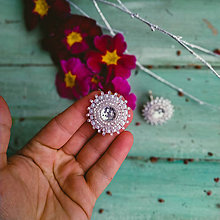 Náušnice - Sparkly earrings n.13  - vyšívané náušnice - 11585015_