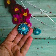 Náušnice - Sparkly earrings n.14  - vyšívané náušnice - 11585018_