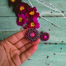 Náušnice - Sparkly earrings n.15  - vyšívané náušnice - 11585021_