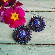 Náušnice - Sparkly earrings n.18  - vyšívané náušnice - 11585049_
