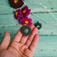 Náušnice - Sparkly earrings n.19  - vyšívané náušnice - 11585053_