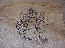 Pomôcky - Rustikálna dubová doska na štýlové servírovanie s rezbou 2 - 11585118_