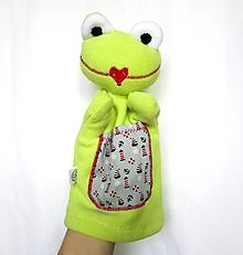 Hračky - Maňuška žaba - Žabiak námorníček - 11587450_