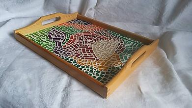 Nádoby - veľký podnos s mozaikou - 11585831_