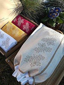 Úžitkový textil - Darčeková sada ľanových kuchynských doplnkov - 11587116_