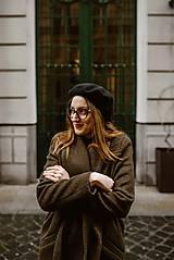 Kabáty - Upcyklovaný kabát BELLA-hnedý - 11585478_