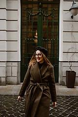 Kabáty - Upcyklovaný kabát BELLA-hnedý - 11585479_