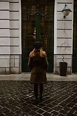 Kabáty - Upcyklovaný kabát BELLA-hnedý - 11585482_