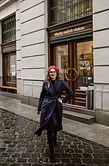 Kabáty - Upcyklovaný kabát BELLA-modrofialový - 11585912_