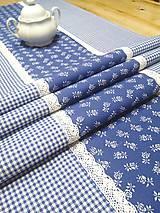 """Úžitkový textil - Štóla folklórna modrá - """" modrotlač """" - 11584962_"""