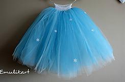 Detské oblečenie - Dlhá tutu sukňa Frozen - 11585584_