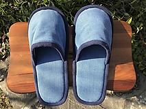 Bledomodré riflové papuče