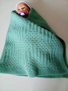 Textil - Detská pletená deka - 11584712_