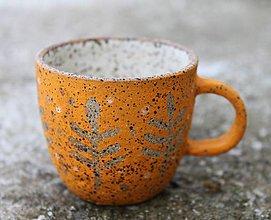Nádoby - Hrnček oranžový mini - 11585321_