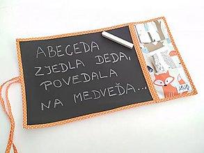 Hračky - Kresliaca (cestovná) tabuľka - lesné zvieratká - 11587210_