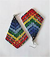 Náušnice - Makramé náušnice Dúha L - 11584902_