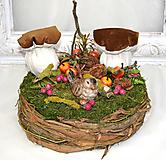 Dekorácie - Hniezdo s dubákmi - 11585100_