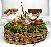 Dekorácie - Hniezdo s dubákmi - 11585101_