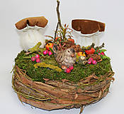 Dekorácie - Hniezdo s dubákmi - 11585103_