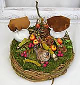 Dekorácie - Hniezdo s dubákmi - 11585104_