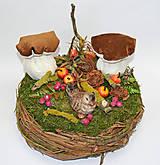 Dekorácie - Hniezdo s dubákmi - 11585105_
