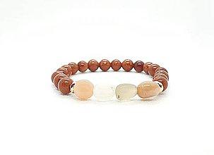 Náramky - Ochranný náramok zo slnečného kameňa a zlatého avanturínu - 11585705_