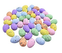 Polotovary - Polystyrénové dekoračné vajíčka 4 x 3 cm, 5 ks (farebné) - 11585999_