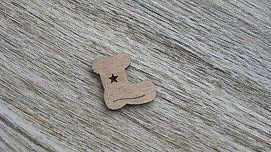 Polotovary - Drevený výrez,1 ks (čižmička) - 11586170_
