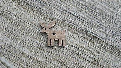 Polotovary - Drevený výrez,1 ks (sobík) - 11586192_