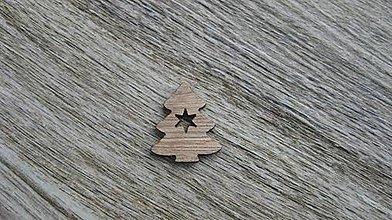 Polotovary - Drevený výrez,1 ks (vianočný stromček) - 11586202_