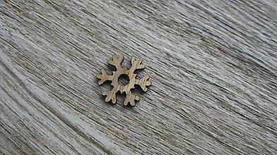 Polotovary - Drevený výrez,1 ks (vločka) - 11586207_