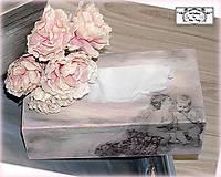 """Krabičky - Krabica na papierové vreckovky """"Grey&rose"""" :) - 11585957_"""
